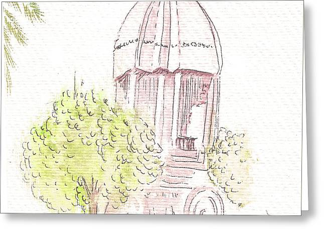 Indian Monument - Valluvarkottam Greeting Card by Remy Francis