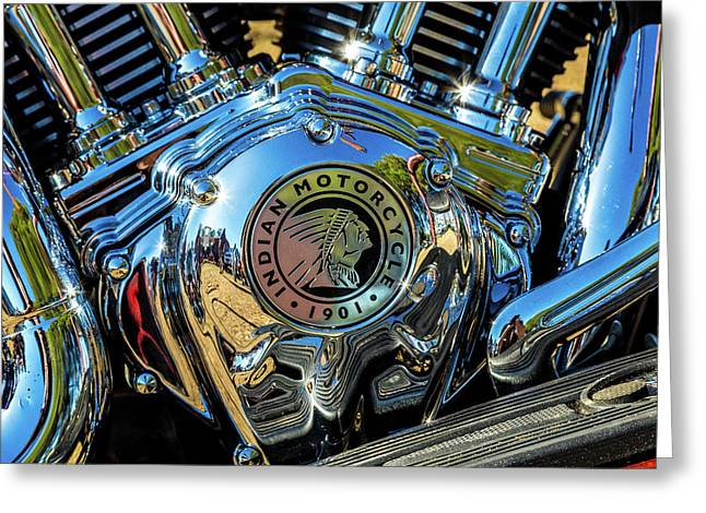 Indian Motor Greeting Card by Keith Hawley