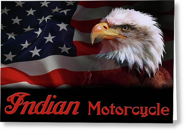Indian Motorcycle - American Iron Horse Greeting Card by Daniel Hagerman
