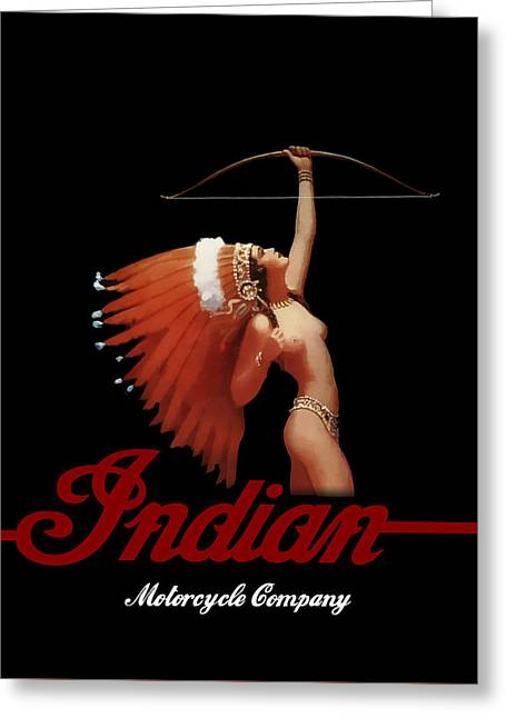 Indian Motorcycle Company Greeting Card