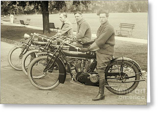 Indian Motorcycle Relay Team 1918 Greeting Card