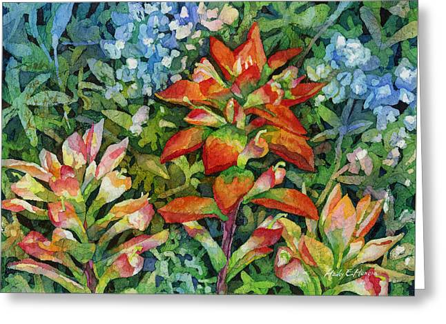 Indian Paintbrush Greeting Card by Hailey E Herrera