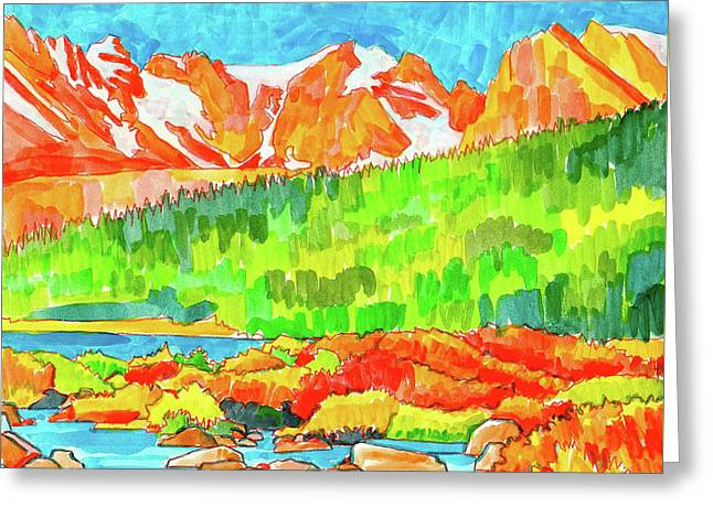 Indian Peaks Wilderness Greeting Card