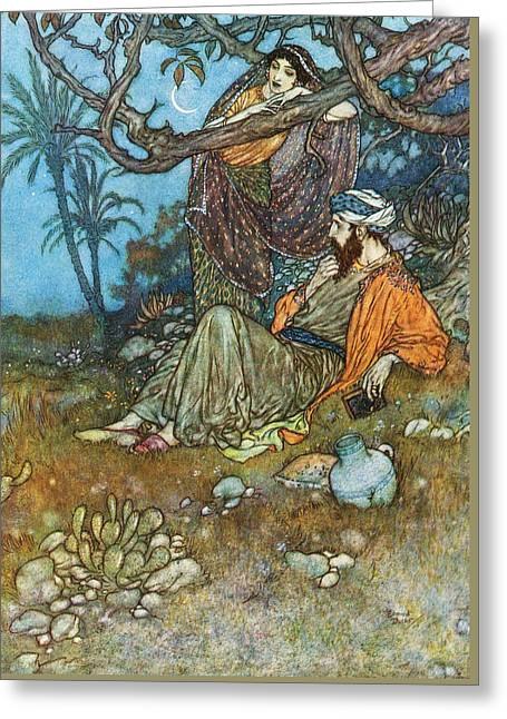 Art Book Greeting Cards - Indian People Greeting Card by Edmund Dulac
