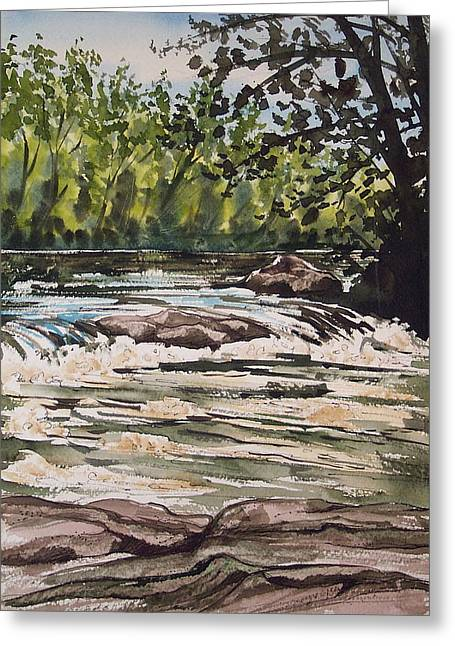 Indian River Ny 2 Greeting Card