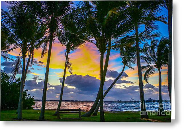 Indian River Sunrise Greeting Card by Tom Claud
