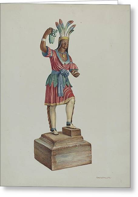 Indian Greeting Card by Robert Wr Taylor