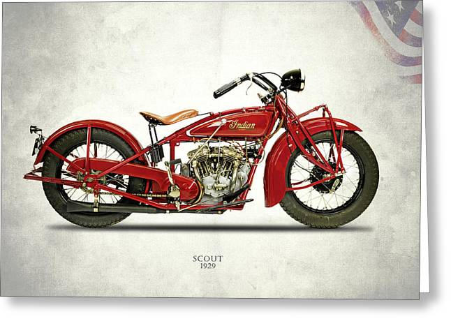 Indian Scout 101 1929 Greeting Card by Mark Rogan