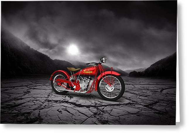 Indian Scout 1928 Mountains Greeting Card