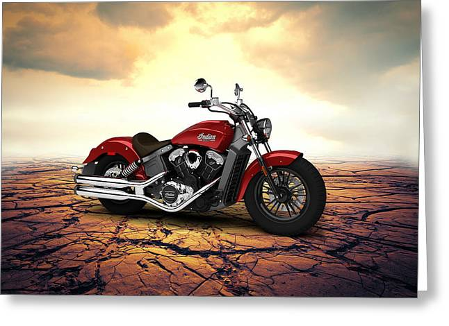 Indian Scout 2015 Desert 02 Greeting Card