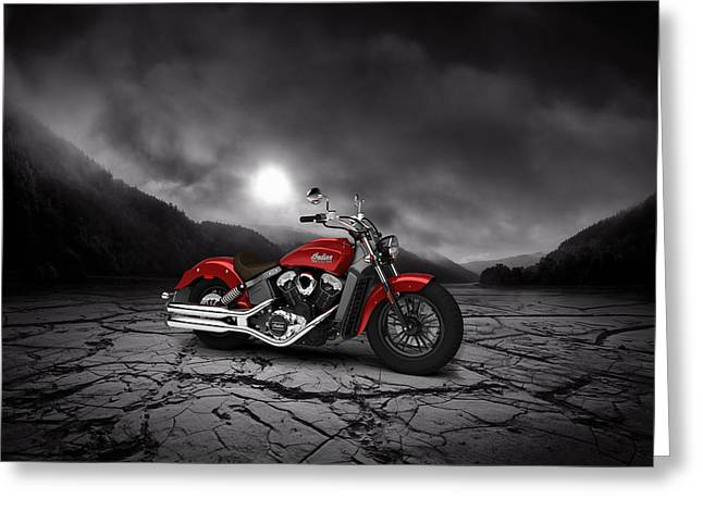 Indian Scout 2015 Mountains 02 Greeting Card