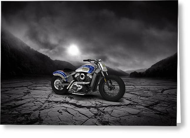 Indian Scout 2015 Mountains Greeting Card