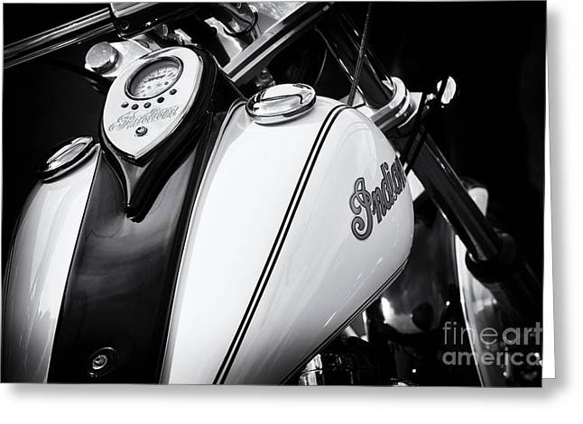Indian Scout Gas Tank Greeting Card by Tim Gainey