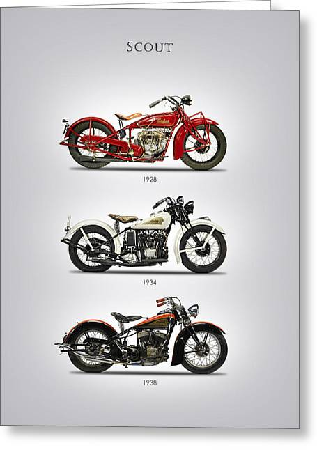 Indian Scout Trio Greeting Card