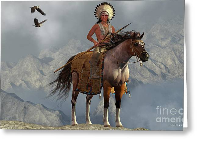 Indian Soaring Eagle Greeting Card