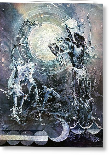 Indian Spirit Lunar Dance Greeting Card