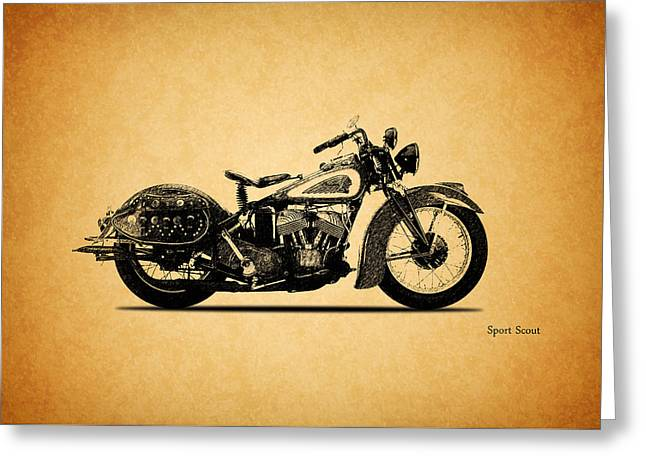 Indian Sport Scout 1939  Greeting Card