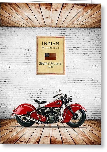 Indian Sport Scout 1941 Greeting Card