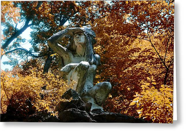 Indian Summer Along The Wissahickon Greeting Card by Bill Cannon