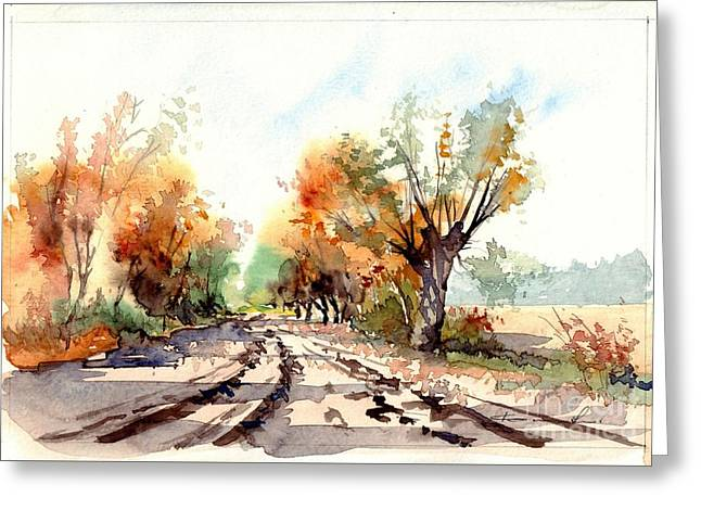 Indian Summer I Greeting Card