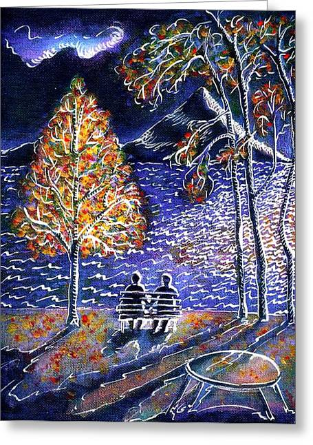 Ion Vincent Danu Greeting Cards - Indian Summer in Magog Qc Greeting Card by Ion vincent DAnu