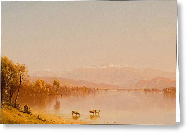 Indian Summer In The White Mountains Greeting Card by Sanford Robinson Gifford