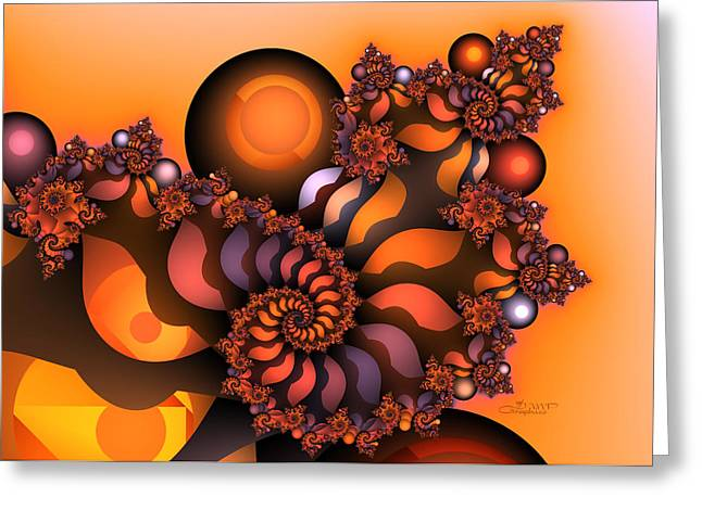 Repetition Greeting Cards - Indian Summer Greeting Card by Jutta Maria Pusl