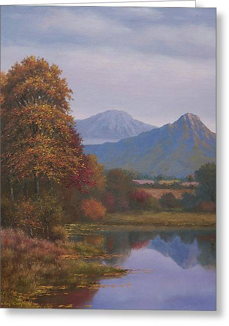 Indian Summer Revisited Greeting Card by Sean Conlon