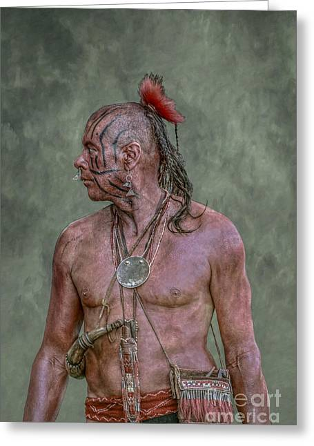 Indian Warrior Portrait Greeting Card