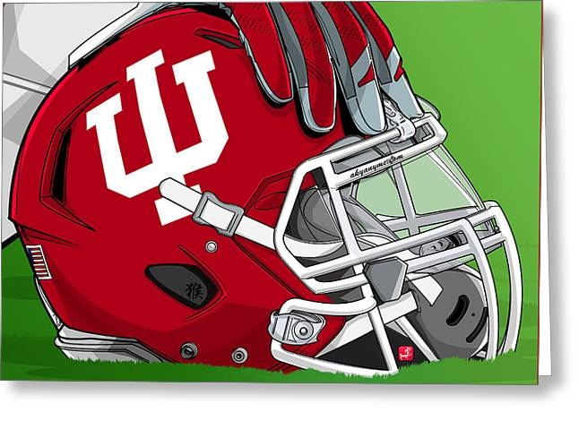 Indiana College Football Greeting Card by Akyanyme