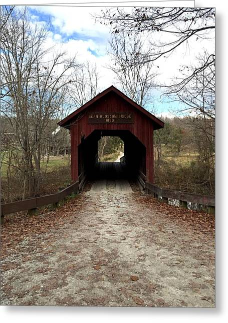 Indiana Covered Bridge Greeting Card