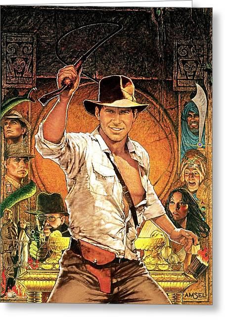 Indiana Jones Raiders Of The Lost Ark 1981 Greeting Card