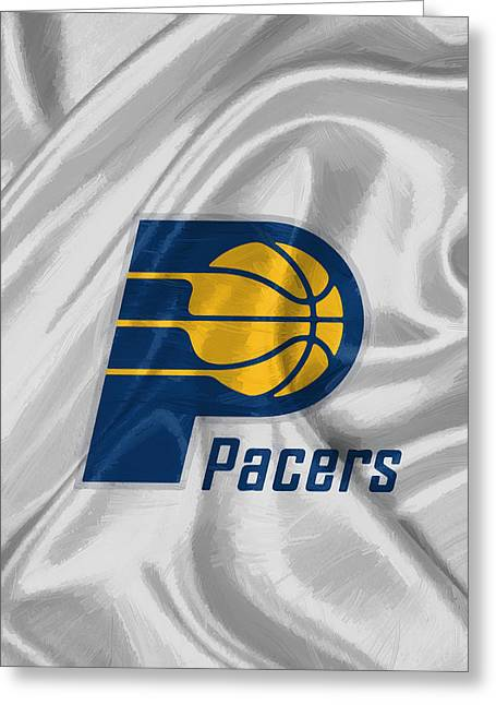 Indiana Pacers Greeting Card by Afterdarkness