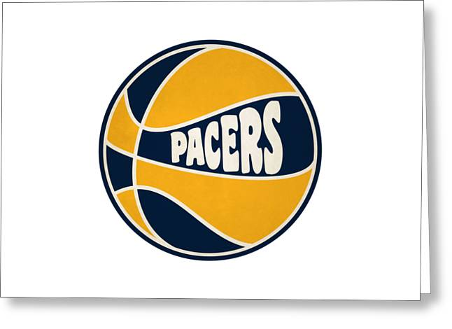 Indiana Pacers Retro Shirt Greeting Card