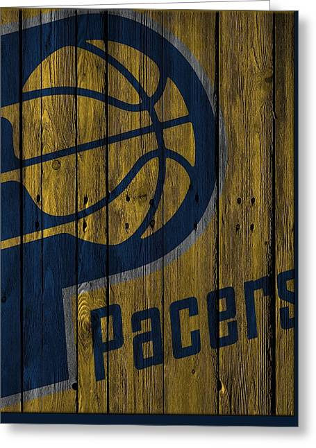 Indiana Pacers Wood Fence Greeting Card