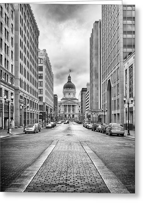 Indiana State Capitol Building Greeting Card by Howard Salmon