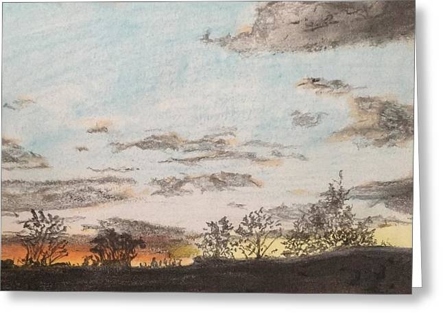 Indiana Sunset Greeting Card by Nevera Keesler