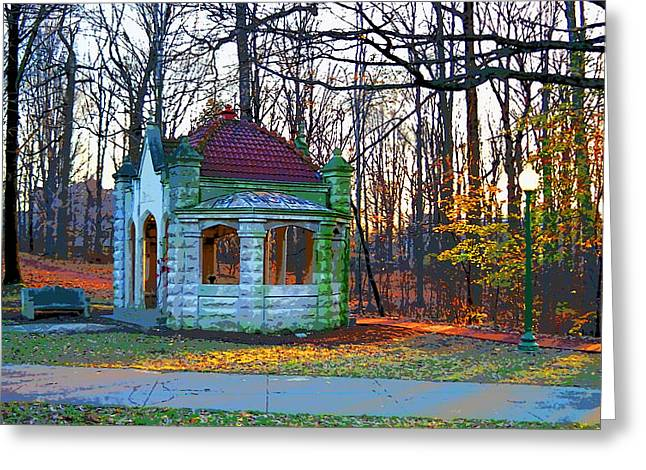 Indiana University Bloomington Old Campus Wellhouse Greeting Card by Paul Price