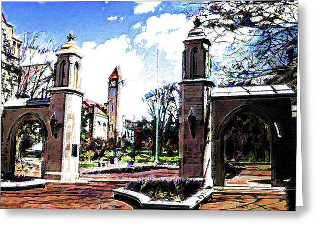 Indiana University Gates Greeting Card