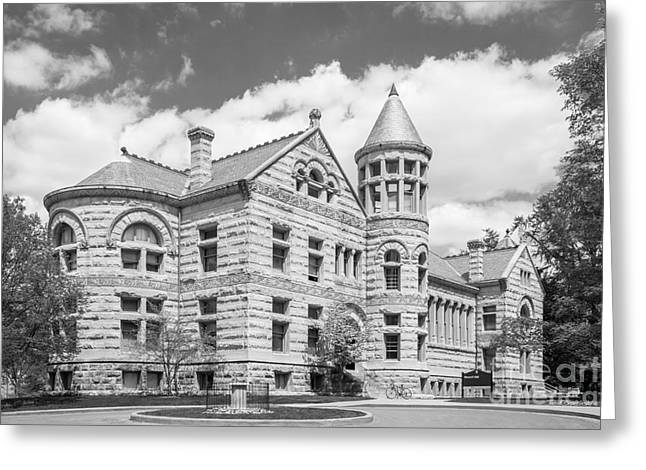 Indiana University Maxwell Hall Greeting Card by University Icons