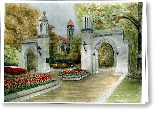 Indiana University Sample Gates Greeting Card by Ted Reeves
