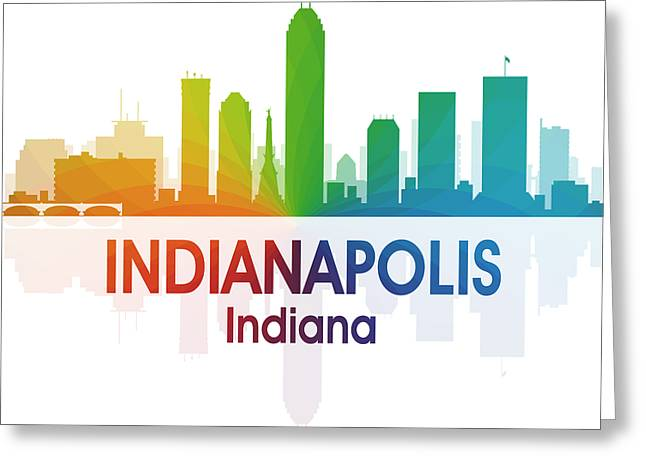 Indianapolis In 1 Squared Greeting Card