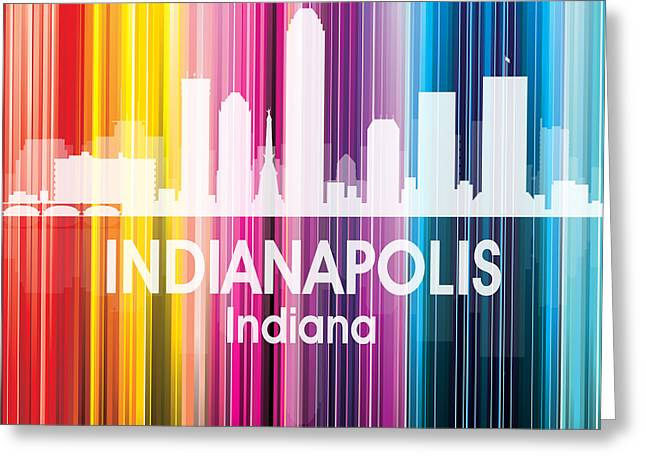 Indianapolis In 2 Squared Greeting Card