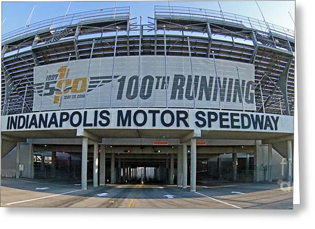 Indianapolis Motor Speedway Greeting Card by Steve Gass