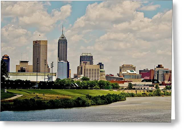 Indianapolis Skyline 25 Greeting Card by David Haskett