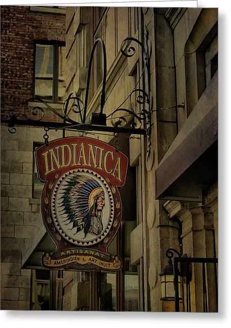Indianica Montreal Greeting Card by Deborah Benoit