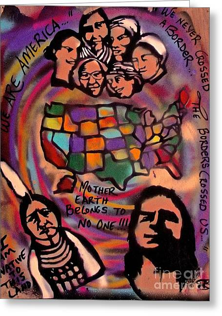 Indigenous America 101 Greeting Card by Tony B Conscious