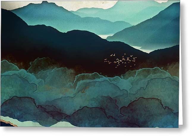 Indigo Mountains Greeting Card