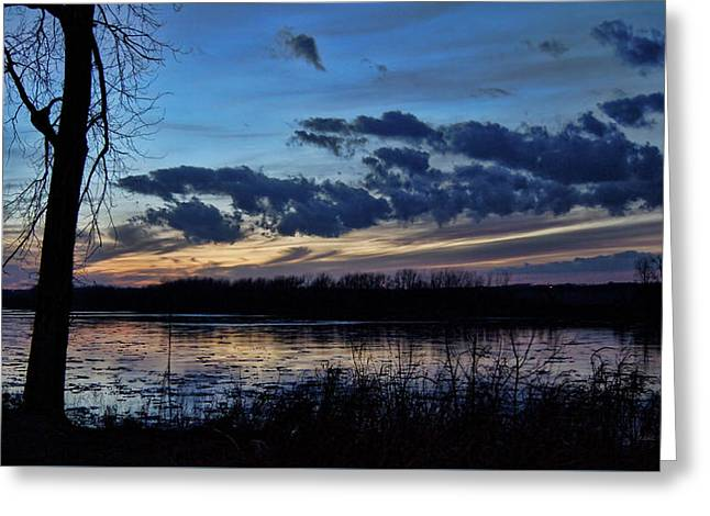 Greeting Card featuring the photograph Indigo Skies by Cricket Hackmann