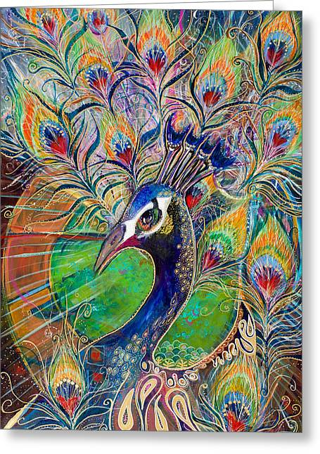 Confidence And Beauty- Individuality Greeting Card by Leela Payne